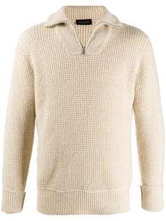 Roberto Collina свитер с воротником на молнии