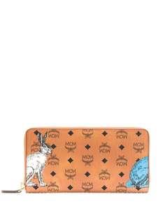 MCM rabbit print logo wallet