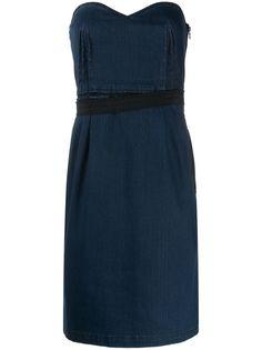 Lanvin Pre-Owned джинсовое платье мини 1990-х годов