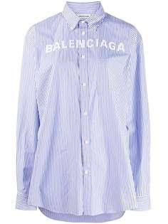 Balenciaga рубашка в полоску с логотипом