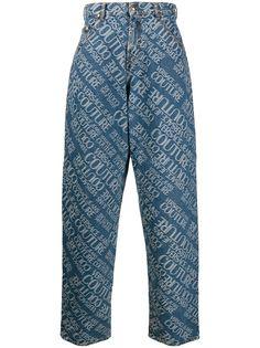 Versace Jeans Couture джинсы широкого кроя с логотипом