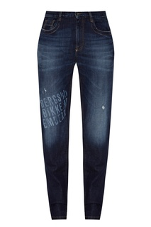 Синие джинсы с логотипами Dirk Bikkembergs
