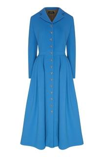 Голубое платье на пуговицах Alena Akhmadullina