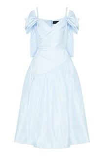 Светло-голубое платье на бретелях Simone Rocha
