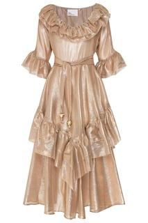 Блестящее золотистое платье Laura Lisa Marie Fernandez
