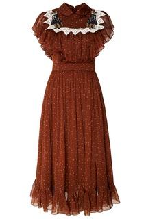 Платье с кружевной тесьмой и оборками Alena Akhmadullina