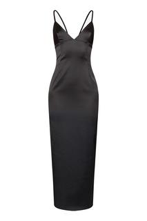 Платье-комбинация черного цвета Alexander Terekhov