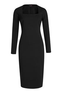 Черное платье-футляр Terekhov Girl