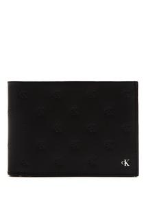 Черный прямоугольный кошелек Calvin Klein