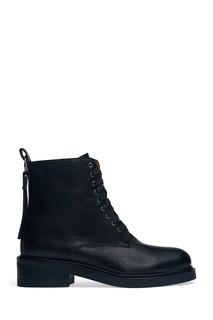 Кожаные ботинки на блочном каблуке Alexander Terekhov