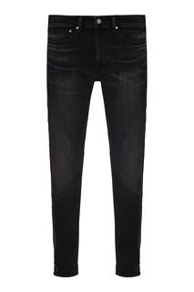 Зауженные черные джинсы с потертостями Calvin Klein