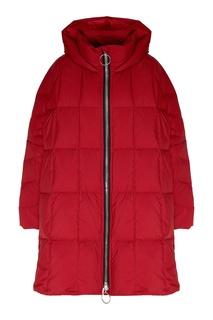 Красный стеганый пуховик-пальто Ienki Ienki