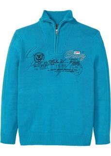 Пуловер с воротником тройер Bonprix