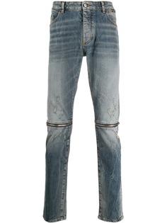 Palm Angels джинсы прямого кроя с молниями