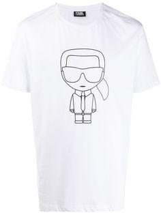 Karl Lagerfeld футболка с принтом Ikonik