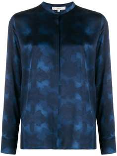 Vince abstract-print silk blouse