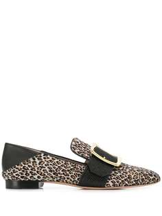 Bally лоферы с леопардовым принтом