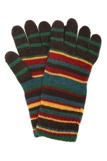 Перчатки в разноцветную полоску Paul Smith