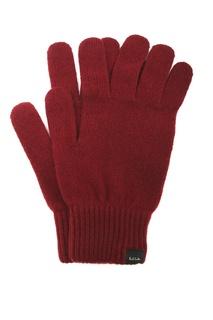 Красные кашемировые перчатки Paul Smith