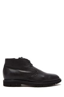 Черные кожаные ботинки Barrett