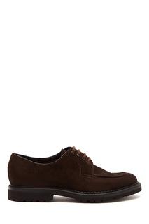 Коричневые замшевые туфли Barrett