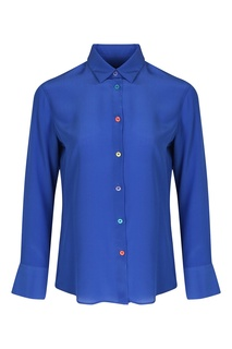 Синяя шелковая блузка Paul Smith