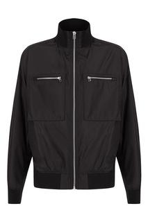 Черная куртка на молнии Hugo Boss