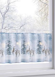 Кухонная штора Зимний лес с подсветкой Bonprix