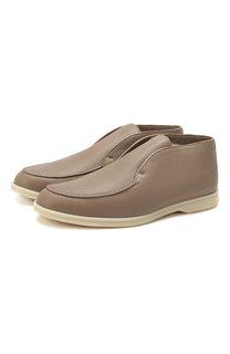 Кожаные ботинки Open Walk Loro Piana