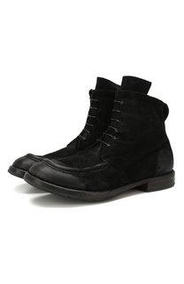 Замшевые ботинки Moma