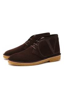 Замшевые ботинки Valentino Garavani Valentino