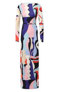 Платье из смеси вискозы и шелка Emilio Pucci