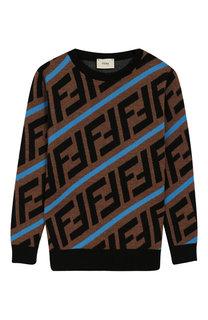 Шерстяной пуловер Fendi