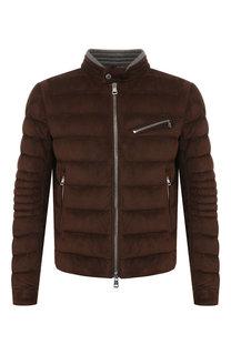 Замшевая куртка Moncler