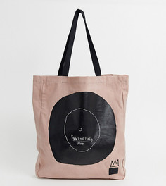 Розовая сумка-тоут Herschel x Basquiat