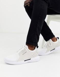 Белые кожаные кроссовки с полосками Tommy Hilfiger corporate