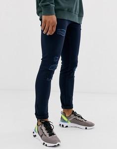 Темно-синие джинсы скинни Jack & Jones Intelligence