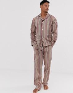 Классическая пижама в разноцветную полоску Paul Smith