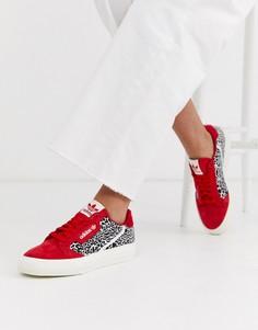 Кроссовки со звериным принтом adidas Originals Continental 80 Vulc