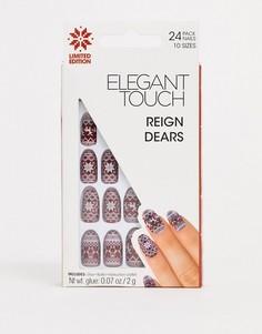 Новогодние накладные ногти Elegant Touch Reign Dears