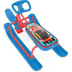 "Снегокат Nika ""Тимка спорт 1"" Kids sportcar, красный каркас"