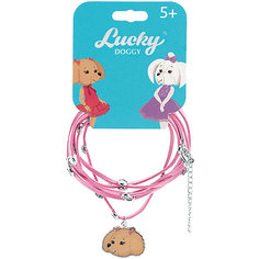 Кожаный браслет Orange Lucky Doggy, с Пуделем