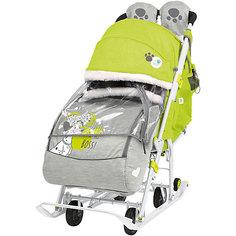 Санки-коляска Nika Baby 2 Disney 101 Далматинец, лимонные