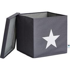 Коробка с крышкой для хранения Store it Звезда, серый