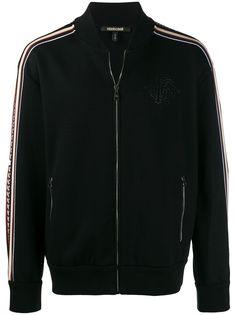 Roberto Cavalli куртка-бомбер вязки интарсия