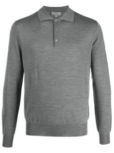 Canali рубашка-поло с длинными рукавами