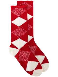 Burberry носки с геометрическим узором