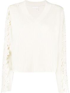 See By Chloé пуловер с кружевной аппликацией