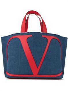 Valentino пляжная сумка Valentino Garavani с логотипом VLogo