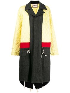 Plan C стеганое пальто со вставками